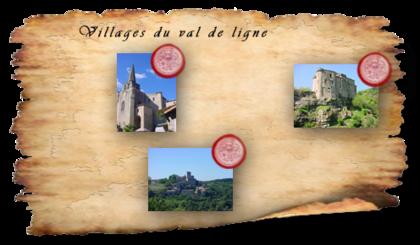 Carte des villages de caractère ardèchois