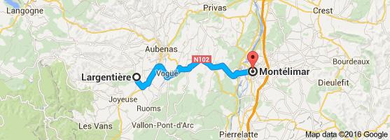 Map Montelimar